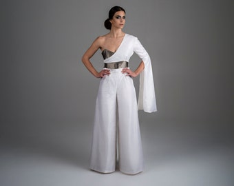 TakeOff - metallic organza and natural dupioni silk, dress, one of a kind, 100% hand sewed, haute couture