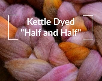 Kettle Dyed Half and Half - Kettle Dyed Hand painted Spinning Fiber Tutorial