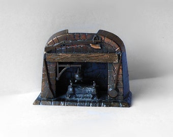 Vintage Dollhouse Miniature Fireplace Hearth Durham Industries 1976 Item 38 Cast Iron