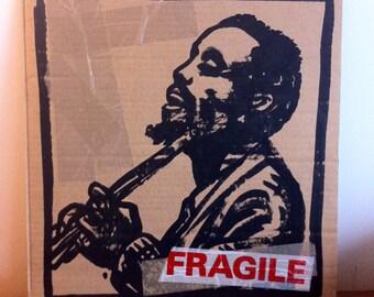 Dessin original, original artwork, illustration of jazz genius Eric Dolphy sur carton/cardboard