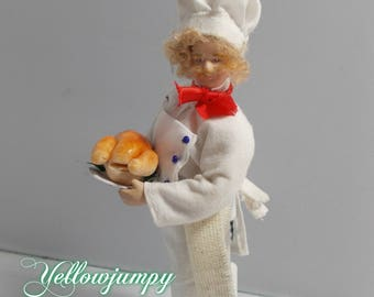"1/12th dollhouse miniature Chef  "" Garibaldi Biscotti"""
