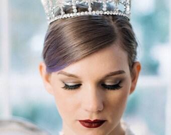 Bridal Tiara Crystal and Pearl Tiara STELLA, Swarovski Bridal Tiara, Crystal Wedding Crown, Rhinestone Tiara, Wedding Tiara, Diamante Crown