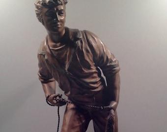Vintage L.F. Moreau Style Bronze Statue Sculpture