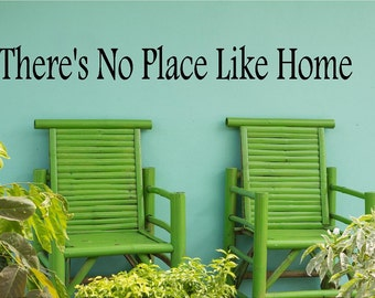 There's No PlaceLike Home-style 2 Vinyl Wall Decal Lettering Dining Room Kitchen Quote-Made in America