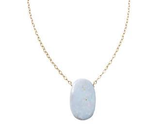 Opal Necklace, Opal Jewelry, October Birthstone, Genuine Australian Boulder Opal Doublet, Everyday Jewelry, Simple Necklace, Gift for Her