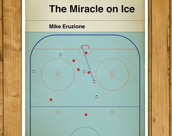 """The Miracle on Ice - 1980 Winter Olympics Ice Hockey Final - USA v USSR - Mike Eruzione - Classic Book Cover Poster (11 x 17"""")"""
