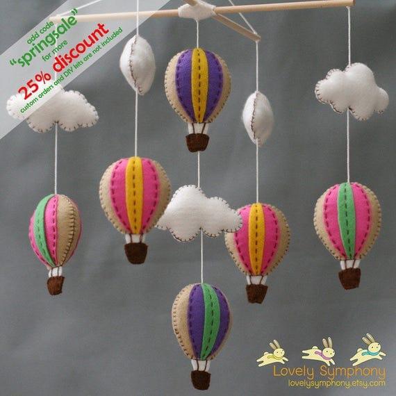 Fun fair hot air balloons baby mobile - baby mobile