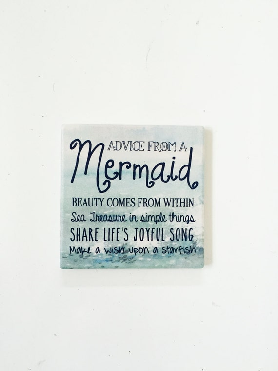 Mermaid Coasters / Mermaid Decor / California Coasters / California Gift / Dorm decor /aloha coasters / aloha gifts / vintage