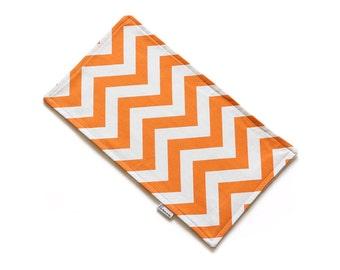 SALE || Burp Cloth || Chevron Orange and White || Fleece Backing