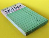 Green Guest Check Booklet 2516 Vintage Order Pad Restaurant Art Supplies