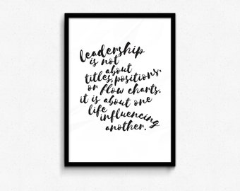 GET 50% OFF - code: Get50off Leadership is not about Titles Quote Perfect for Office or Home Decor  8x10 or Larger jpg, pdf, easy decor