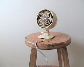 70s Super Desk Fan Mini Tabletop Electric Fan Industrial Office Decor
