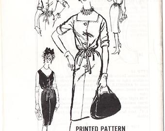 Prominent Designer A723 Misses' Vintage 50s/60s John Weitz Designer Blouson Cocktail or Day Dress Sewing Pattern