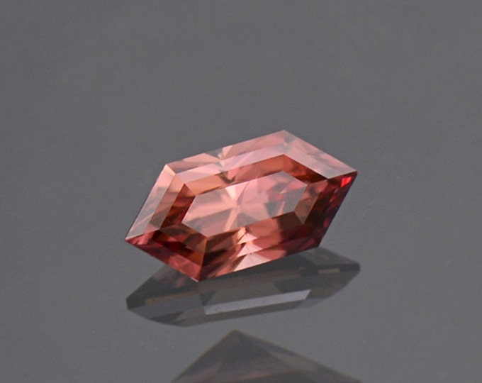 Elegant Pink Rupee Shape Zircon Gemstone from Tanzania 1.23 cts.