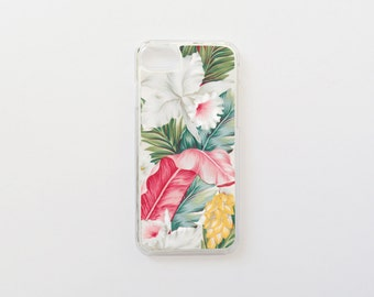 iPhone 7 Case - Floral iPhone Case - Hibiscus iPhone Case - Tropical iPhone Case - Hard Plastic or Rubber