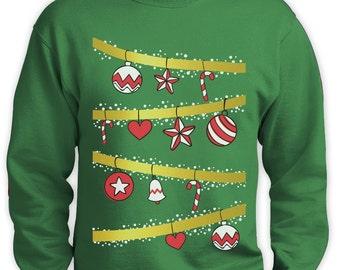 Ugly Christmas Tree - Men's Sweatshirt