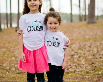 Cousin Shirts - Matching Cousin Shirts - Big Cousin Shirt - Cousin Announcement Shirt - Promoted to Cousin - Gift for Cousin - Birthday Gift
