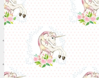 Baby Bedding Crib Bedding - Floral Unicorn Pink Coral - Baby Blanket, Crib Sheet, Changing Pad Cover, Boppy Cover, Crib Skirt