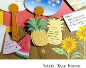 Watermelon and Pineapple Summer Fruit Mini Cards -  20 pieces - Planner Page Tabs Notes Gift Tags Collage