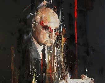 Portait Oil Painting, Man Figure, Male Painting, Modern Art, Figurative Art, Poetry Painting, Expressive Abstract Portrait, Ready to hang