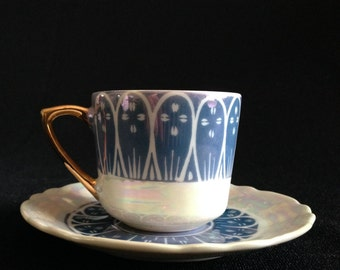 Vintage Lusterware Tea Cup and Saucer made in Japan   (LDT3)