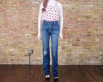 80s straight leg jeans / vintage jeans / straight leg jeans / high waist jeans / 80s straight jeans / stove pipe jeans / vintage high waist