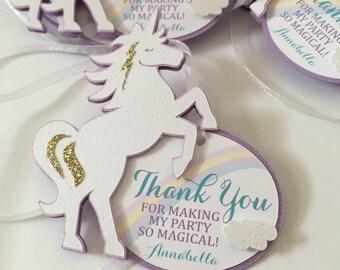 Unicorn Favor Tags, Magical Unicorn Thank You Tag