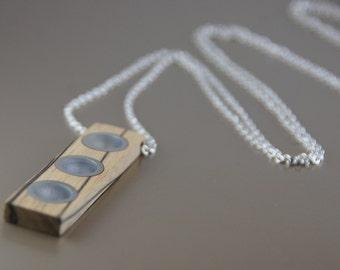 Black and White Ebony Wood Necklace