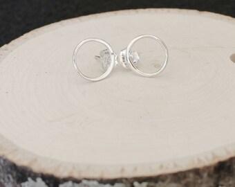 Open Circle Ear Posts Infinity Earrings Karma Earrings Sterling Silver