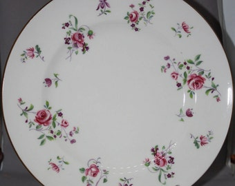 Vintage Royal Victoria Plate with Pink Roses, made in England