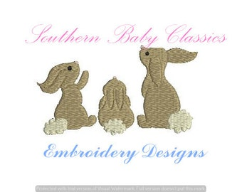 Rabbit  Spring Easter Bunny Rabbits Fill Digital Design File Embroidery Machine Baby