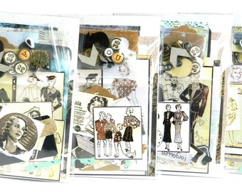 Junk Journal Kit / Ephemera Pack / Mixed Media Art Journal / Collage Sheets / Scrap Paper / Smash Book / Scrapbook Kit / Vintage / Grunge