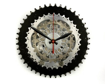 Steampunk Wall Clock, Bicycle Gear Clock, Bicycle Chain Wall Clock, Upcycled Bike Parts Clock