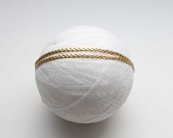 Baby Headband, Adult Headband, Braided Headband, Boho Headband, Braided Leather Headband, Gold Headband, Leather Headband, Baby Accessorie