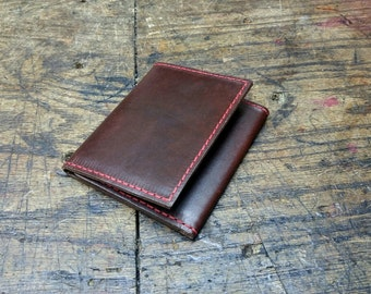 Trifold wallet Horween chromexcel leather brown