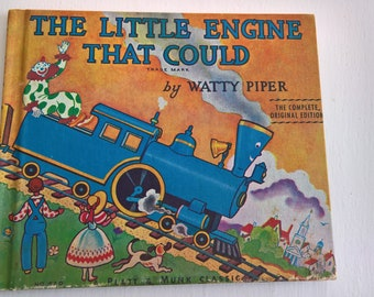 The Little Engine That Could by Watty Piper --- Illustrated by George & Doris Hauman --- Vintage Classic Children's Book --- 1950's Library