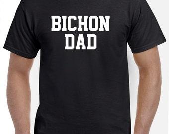 Bichon Frise Dad T Shirt Gift