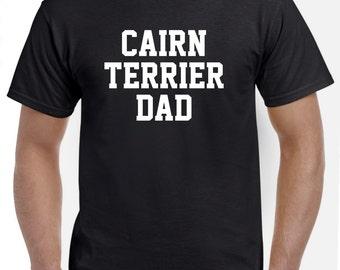 Cairn Terrier Dad Shirt Tshirt Gift