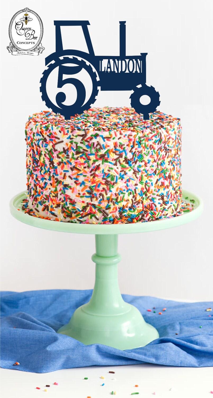 Tractor Birthday Cake Topper Custom Acrylic Cake Topper Laser