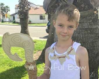 Maui hook and necklace set, maui dress up, moana dress up, moana party, boys moana party