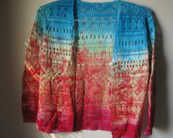 Sunset Crochet - Hand Tie-Dyed Jacket