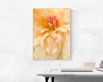Dahlia Flower Photography, Floral Wall Decor Print, Girl's Room Wall Decor, Home Decor Wall Art, Art Gift For Women, Gift For Mom