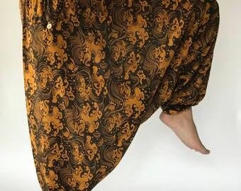 HC0001 Harem Pants Unisex Low Crotch Yoga Trousers