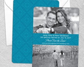 Montauk - Card - Save the Date - Includes Back Side Printing + Envelope