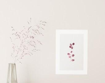 POSTER small Eucalyptus - plants botanic poster