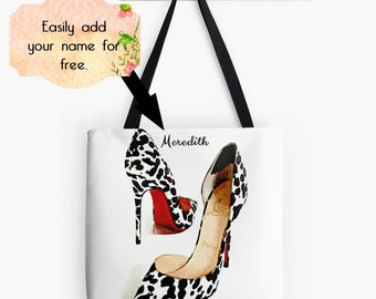 Christian Louboutin High Heels Tote Bag, Drawstring Bag, Fashion Market Bag, Luxury Fashion Purse, Fashion Blog, Personalized Shoes Backpack