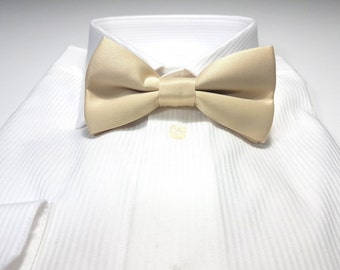 Bow Tie in Champagne Gold Solid