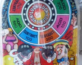 Vintage Carnival Wheel Desk Top Pinball Steven Mfg Co 1978