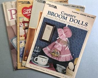 Lot of 4 Crochet Pattern Books 1983-1997