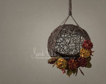 2 Newborn Digital Backdrops - Flower Hanging Basket